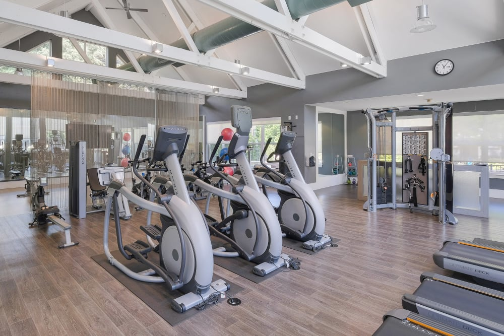 Onsite fitness center at Centro Apartment Homes in Hillsboro, Oregon