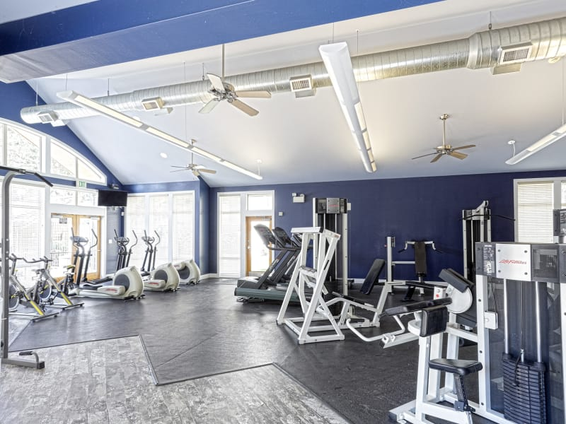 On-site fitness center at Westhills Apartment Homes