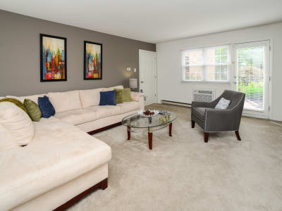 Our apartments in King of Prussia, Pennsylvania have a natrually well-lit living room