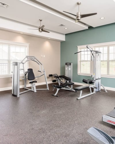 Fitness center at Canal Crossing in Camillus, New York