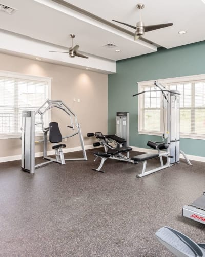 Fitness center at Canal Crossing in Camillus, NY
