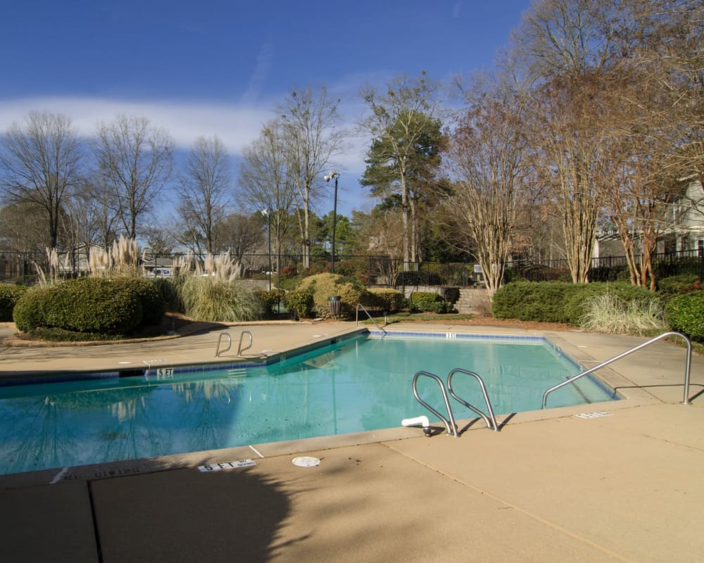 Outdoor swimming pool at Reserve at Twin Oaks in Clarkston, Georgia