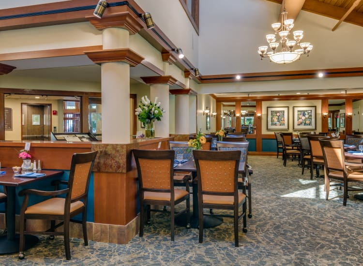 Grand dining room at The Firs in Olympia, Washington