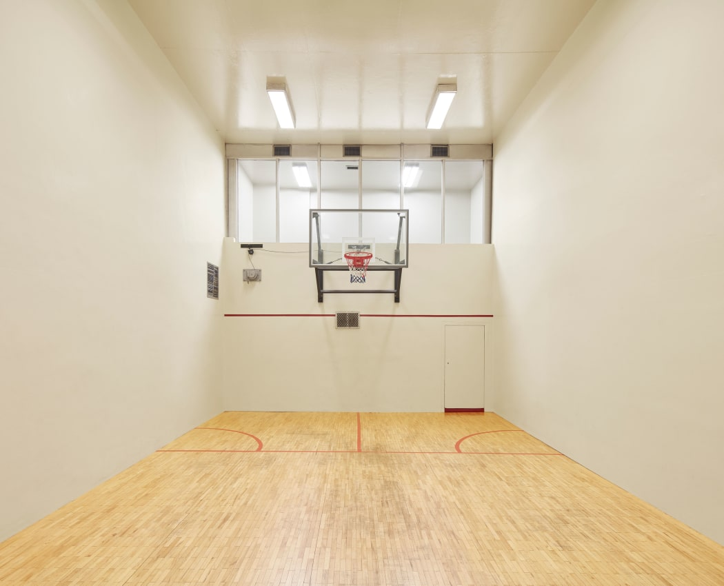 Indoor basketball court at Mississauga Place in Mississauga, Ontario