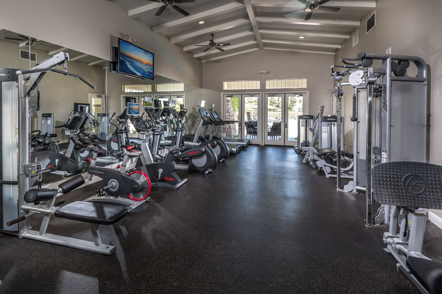 Camino Real offers a fully-equipped fitness center in Rancho Cucamonga, California