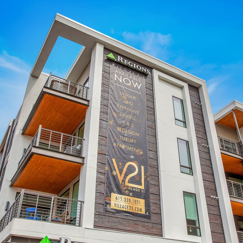 View the site for Village 21 apartments in Nashville, Tennessee