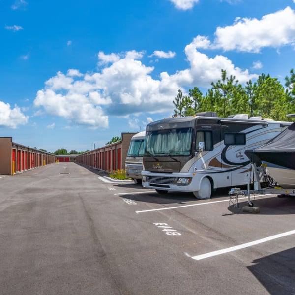 RV, boat, and auto parking at StorQuest Express - Self Service Storage in Palm Coast, Florida
