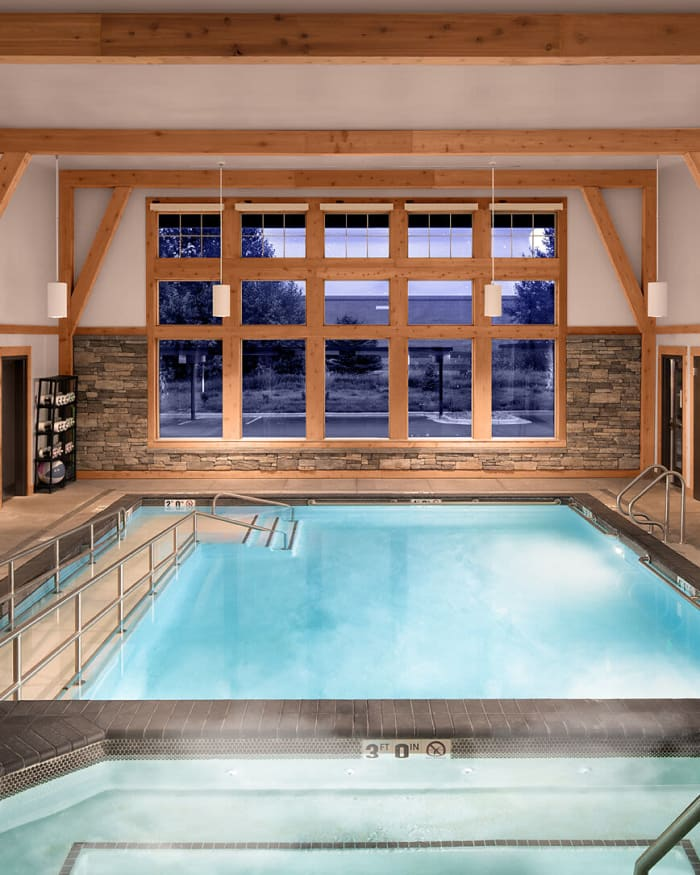 Indoor Heated Pool & Hot Tub at The Springs at Bozeman in Bozeman, Montana
