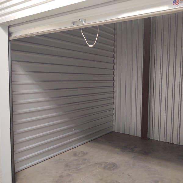 Interior of a storage unit at StorQuest Self Storage in Tucson, Arizona