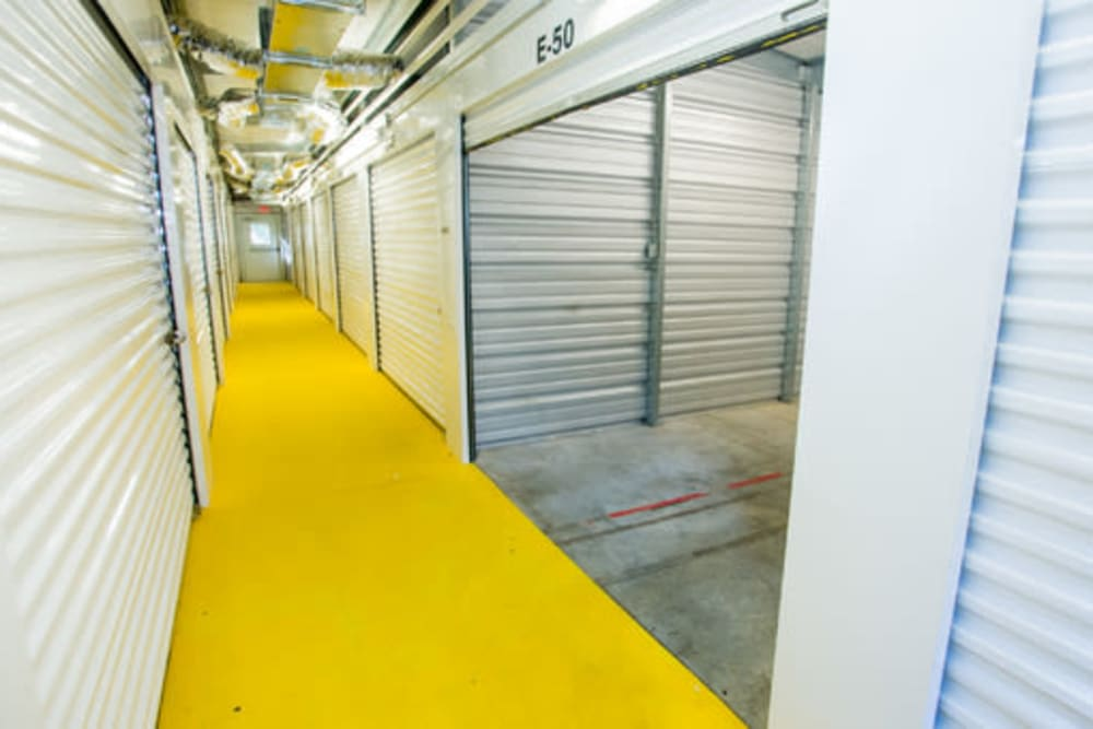 Indoor climate-controlled self storage units at StayLock Storage in Hartsville, South Carolina