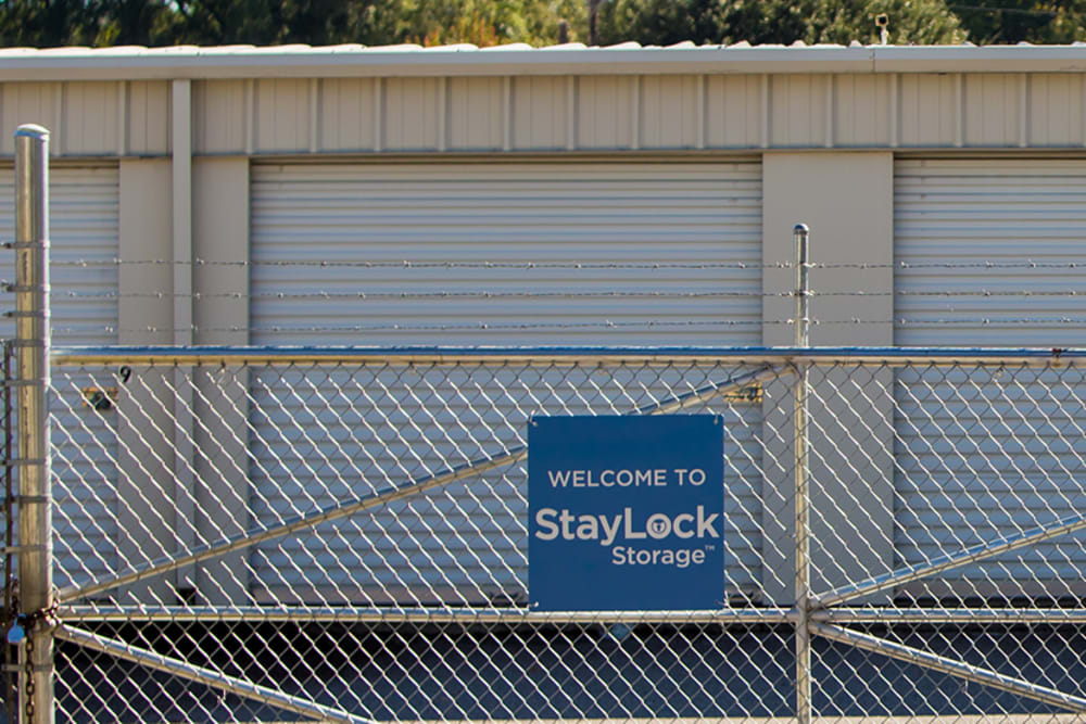 Secure gated access to self storage units at StayLock Storage in Camden, South Carolina
