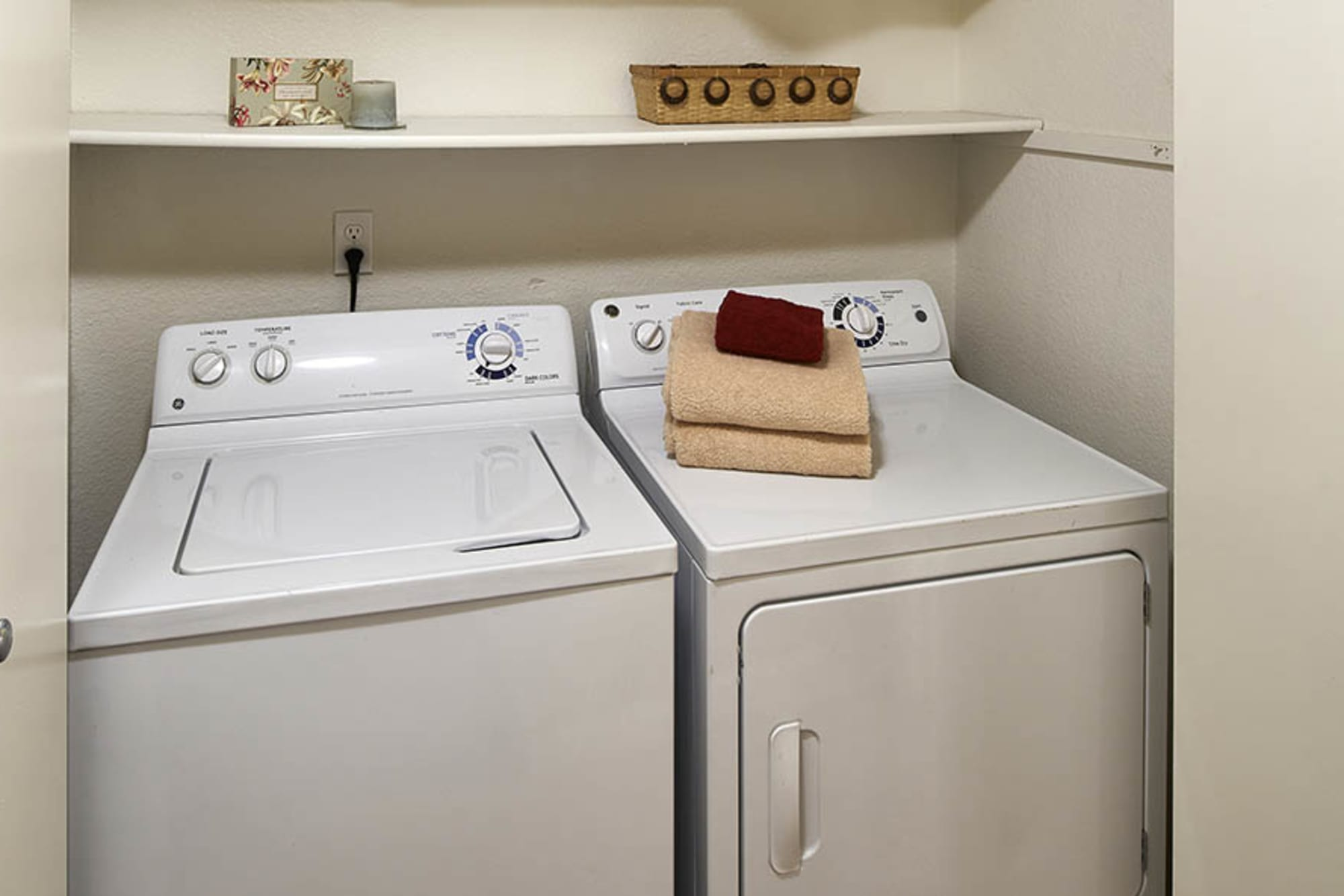 full sized Washer and dryer at Olin Fields Apartments