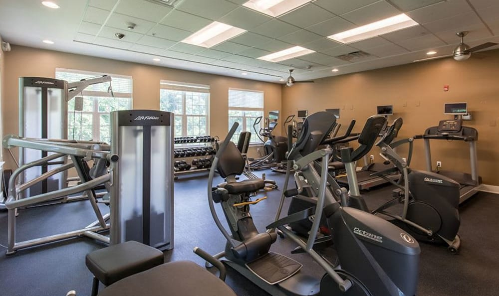 Stay healthy in our fitness center at Waters Edge Apartments in Webster, NY