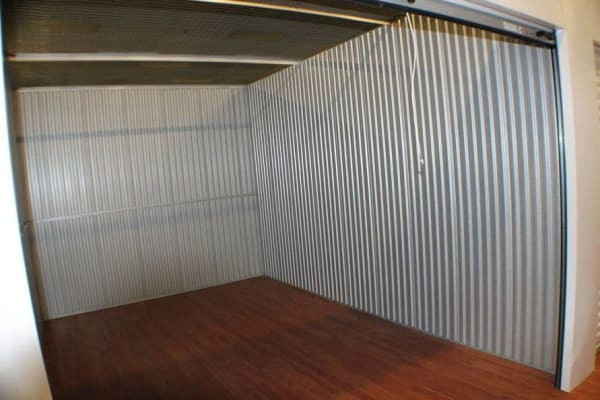 Inside a storage unit at Global Self Storage