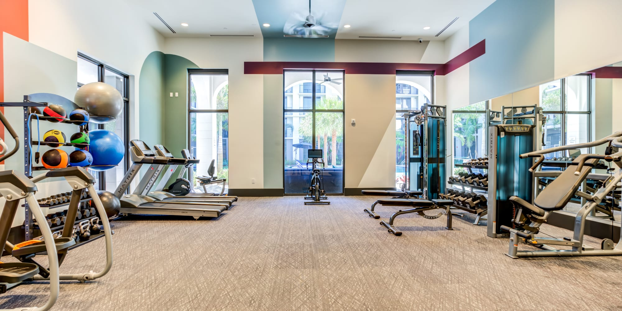 Luxury Fitness Center in Palm Beach Gardens, Florida, at Solera at City Centre