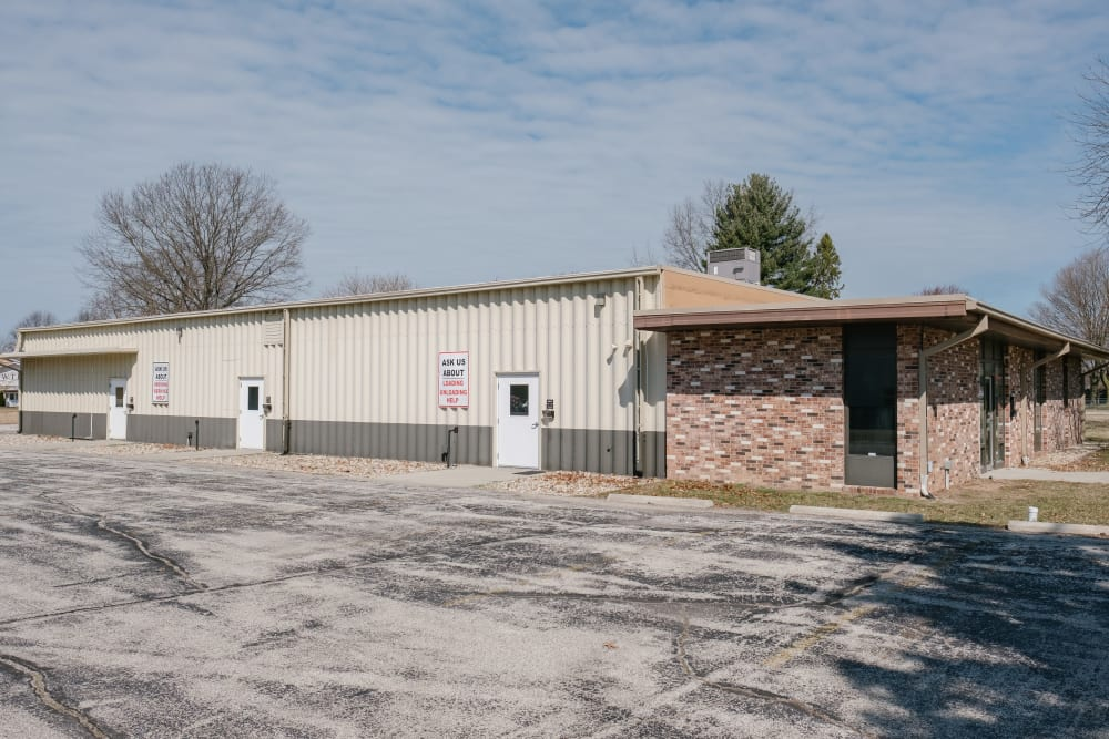 View of office and self storage units at StayLock Storage in Coloma, Michigan