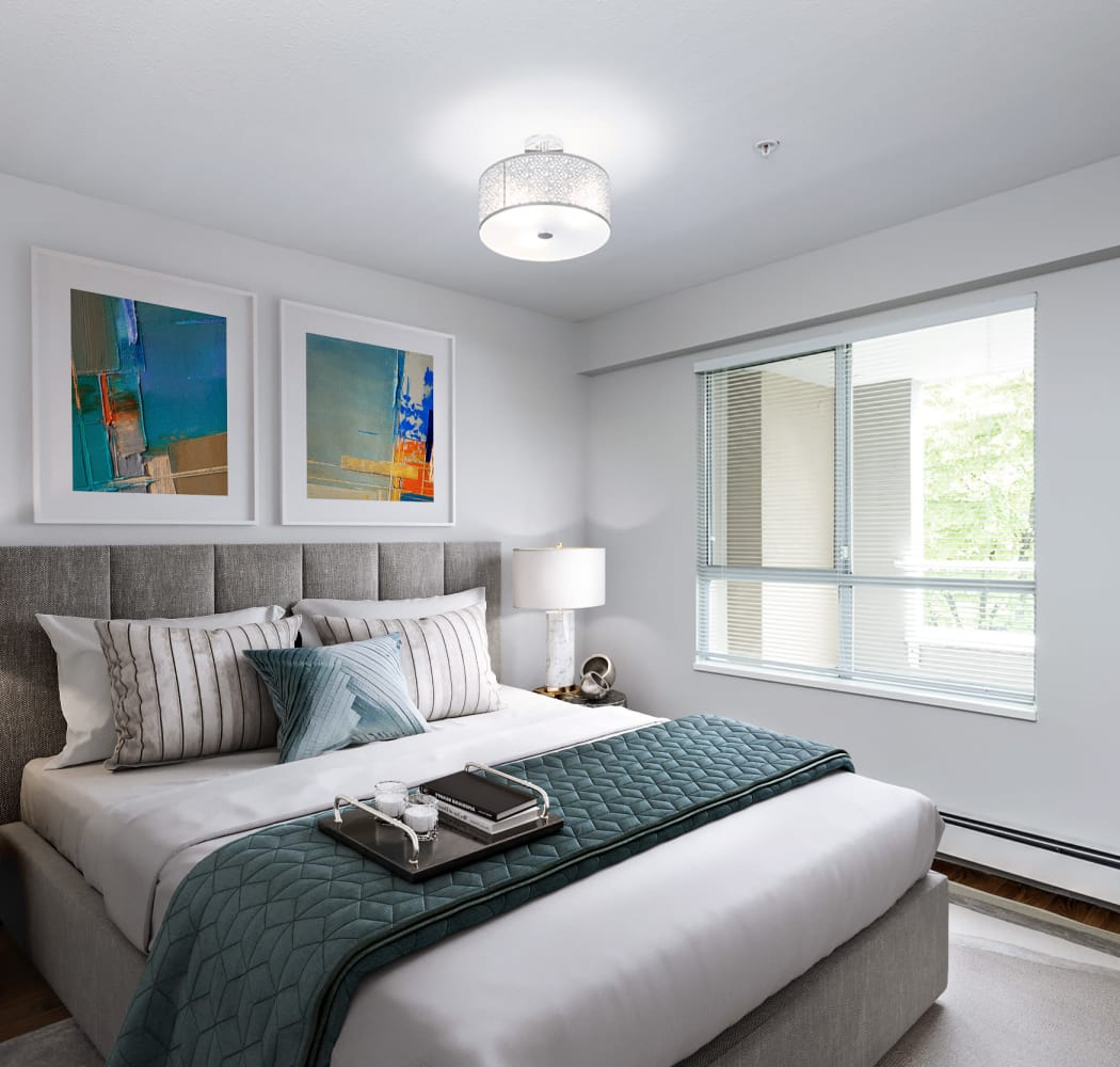 Larchway Gardens offers a naturally well-lit bedroom in Vancouver, BC