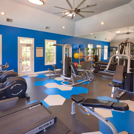 Newly renovated fully-equipped fitness centerSkyecrest Apartments