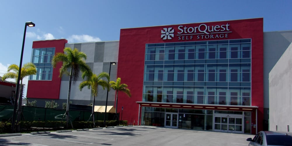 Exterior of StorQuest Self Storage in North Miami, Florida