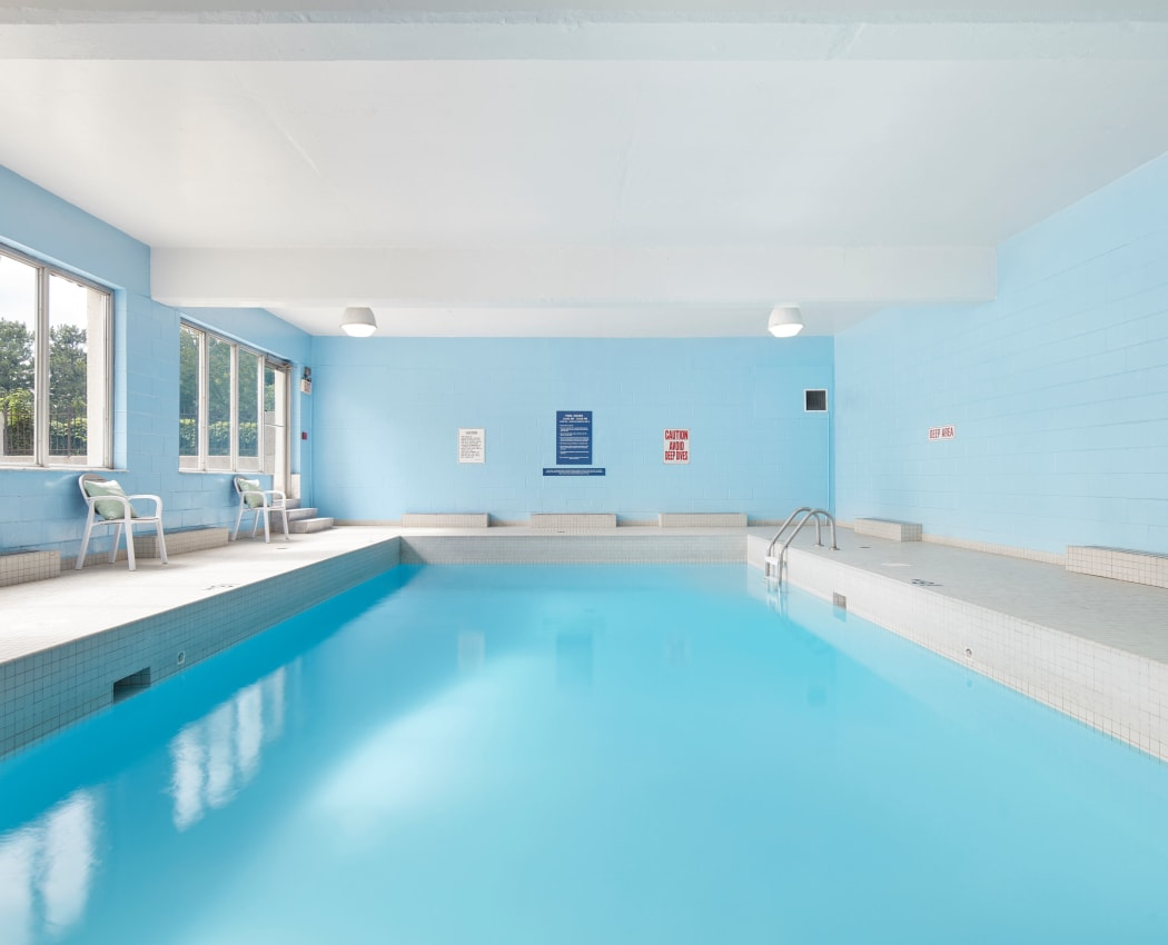 Beautiful swimming pool at Mississauga Place in Mississauga, Ontario