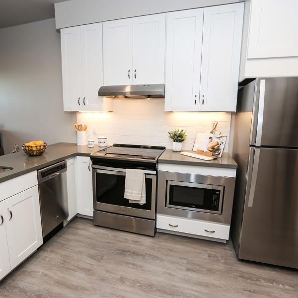 1 Bedroom apartment kitchen at Quail Park at Morrison Ranch in Gilbert, Arizona