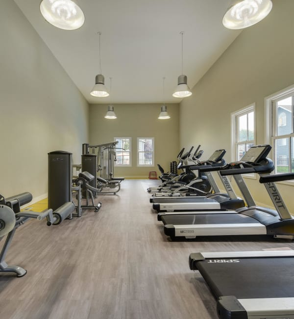 Superb fitness center at Walnut Grove Landing Apartments in Vancouver