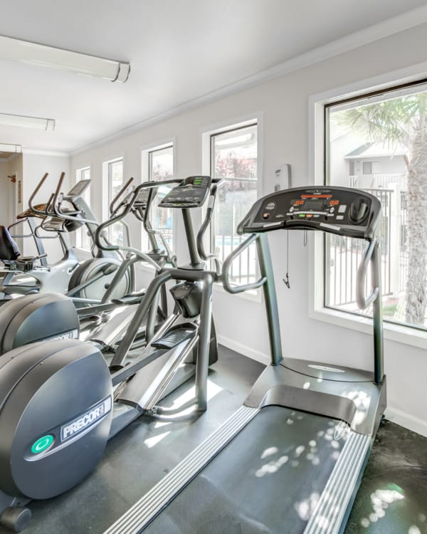 Superb fitness center at Sommerset Apartments in Vacaville