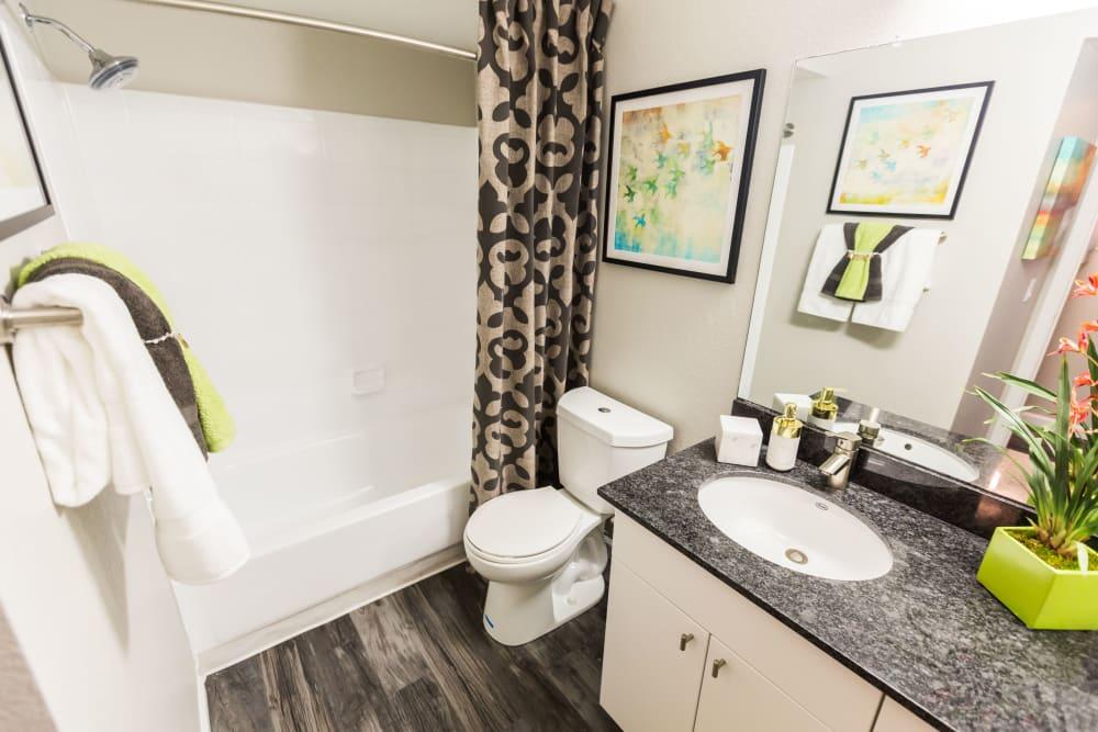 Bathroom with granite counter tops at 4127 Arcadia in Phoenix, Arizona