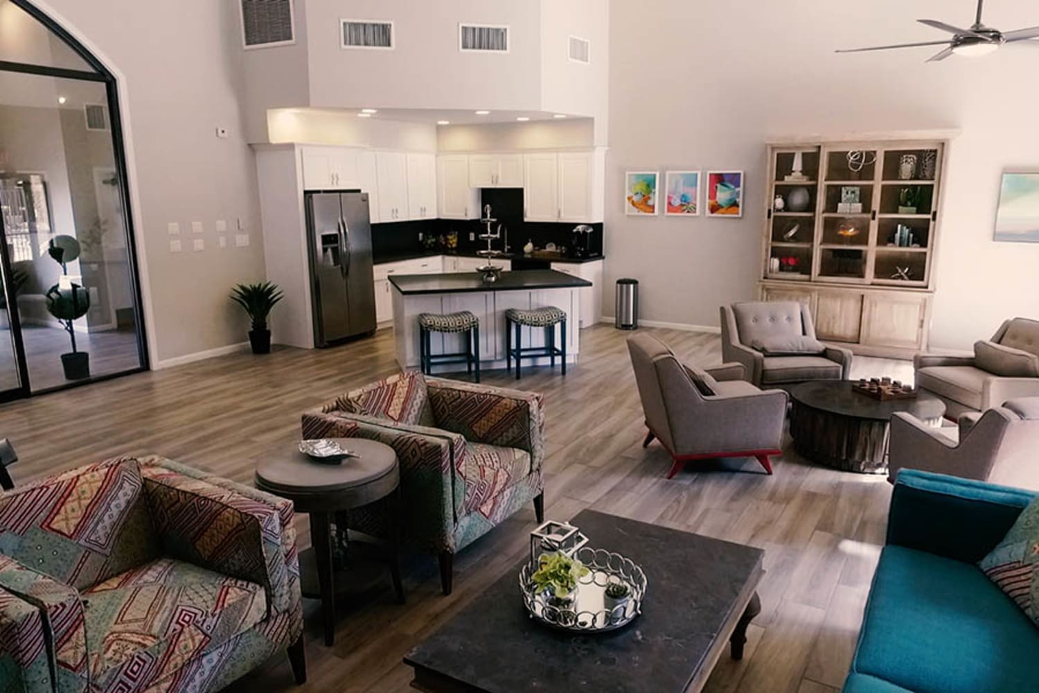 Enjoy a spacious clubhouse at Waterford Place Apartments in Mesa, Arizona