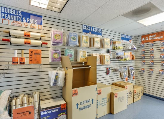 A variety of box sizes available at A-1 Self Storage in Lake Forest, California