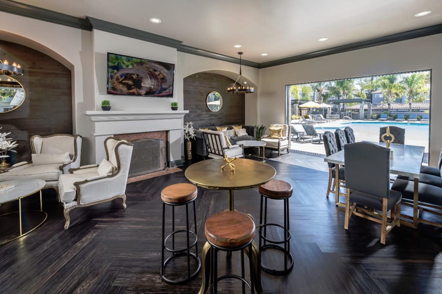 Clubhouse at Madrid Apartments in Mission Viejo, California