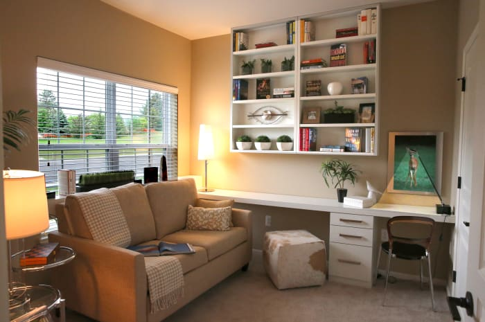 Bedroom converted to a den at All Seasons of West Bloomfield in West Bloomfield, Michigan