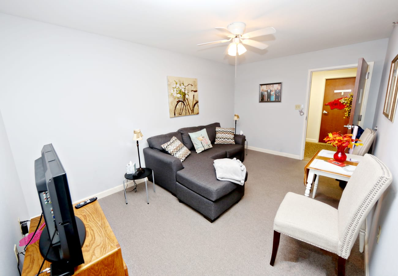 A resident apartment at Providence Assisted Living in Springdale, Arkansas