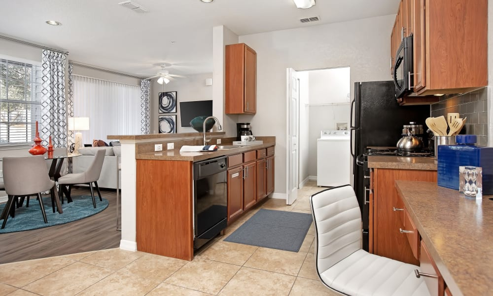 Breakfast nook next to kitchen in unit at The Aspect in Kissimmee, Florida
