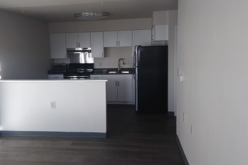 Kitchen layout at Kearney Plaza in Commerce City, Colorado