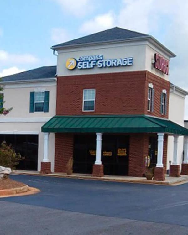 Outside view of our Compass Self Storage office in Buford, Georgia