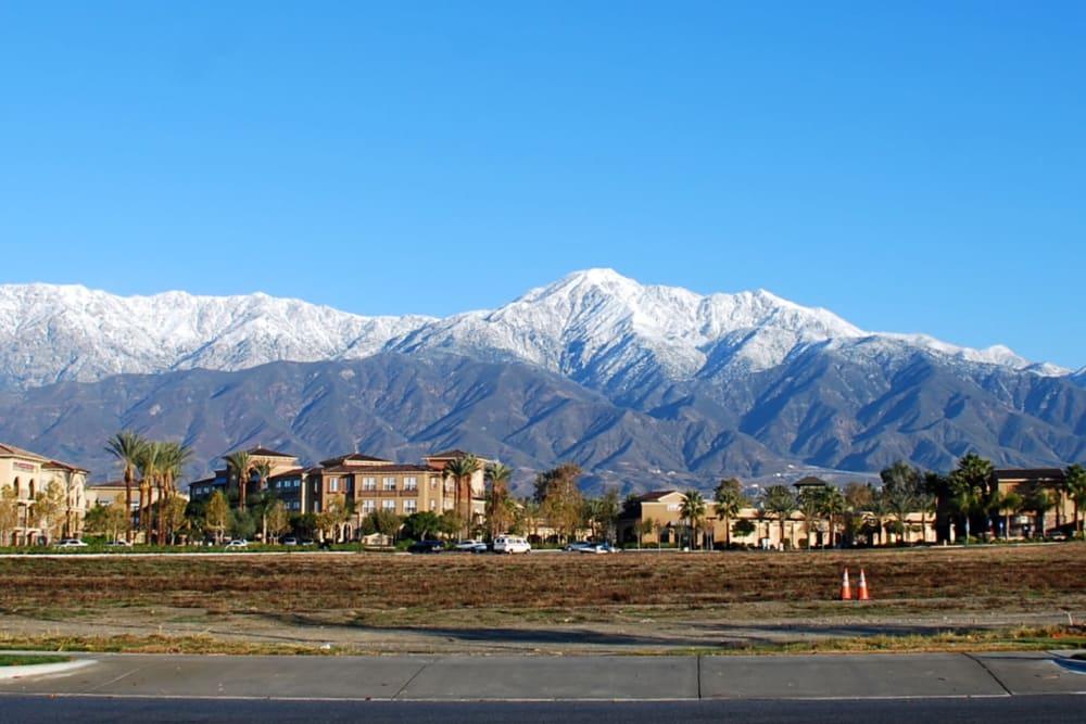 Mountain views near Merrill Gardens at Rancho Cucamonga in Rancho Cucamonga, California