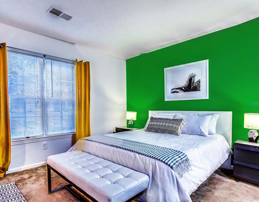 Cozy bedroom at Eagle Rock Apartments at Freehold in Freehold, New Jersey