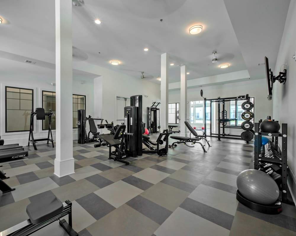 Our excellent fitness center at The Addison in Baton Rouge, Louisiana