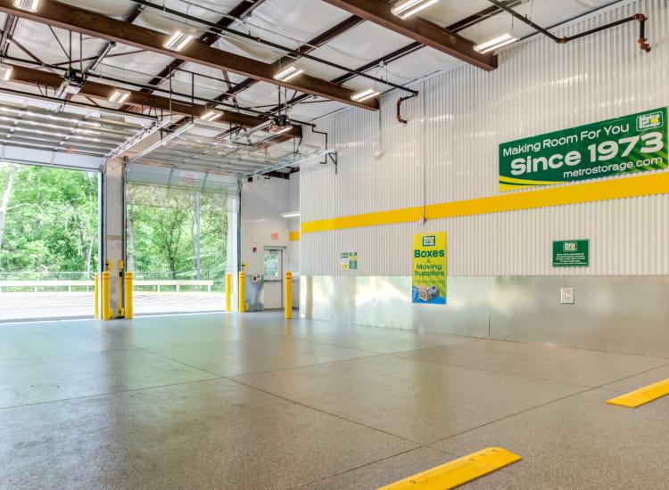 Indoor storage units at Metro Self Storage in Mount Laurel, New Jersey