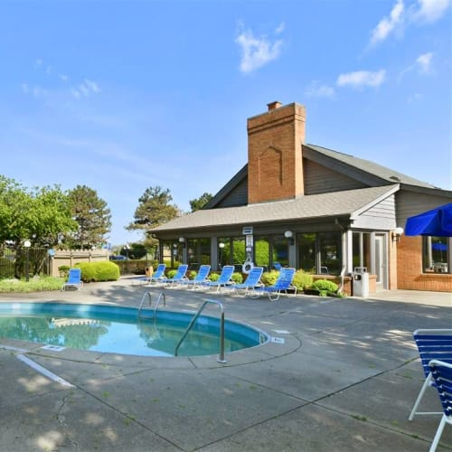 Swimming pool at Brittany Bay Apartments and Townhomes in Groveport, Ohio
