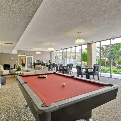 Billiards table at The Marc, Palo Alto in Palo Alto, California