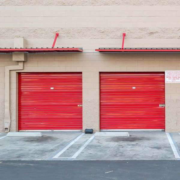 Climate controlled outdoor storage units at StorQuest Self Storage in Los Angeles, California