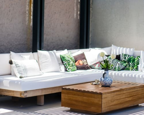 Stylish outdoor spaces at The Flats in Doral, Florida