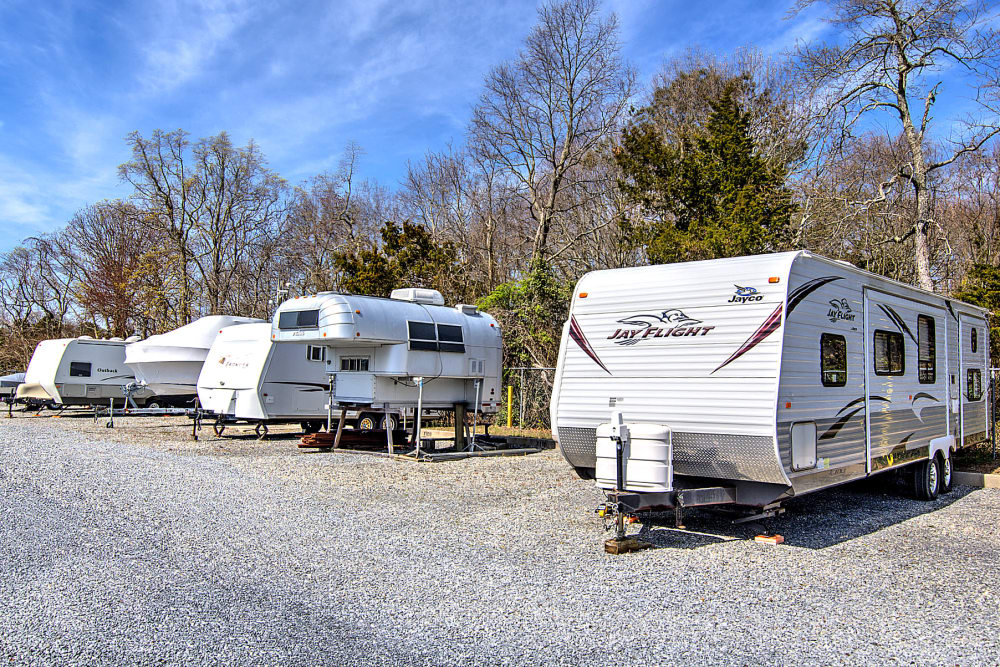 RV and boat parking at A Safe Keeping Self Storage in Cape May Court House, New Jersey
