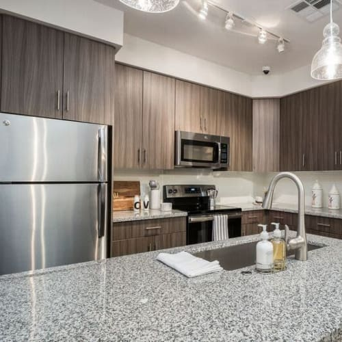 Gorgeous gourmet kitchen in a model home at Cadia Crossing in Gilbert, Arizona