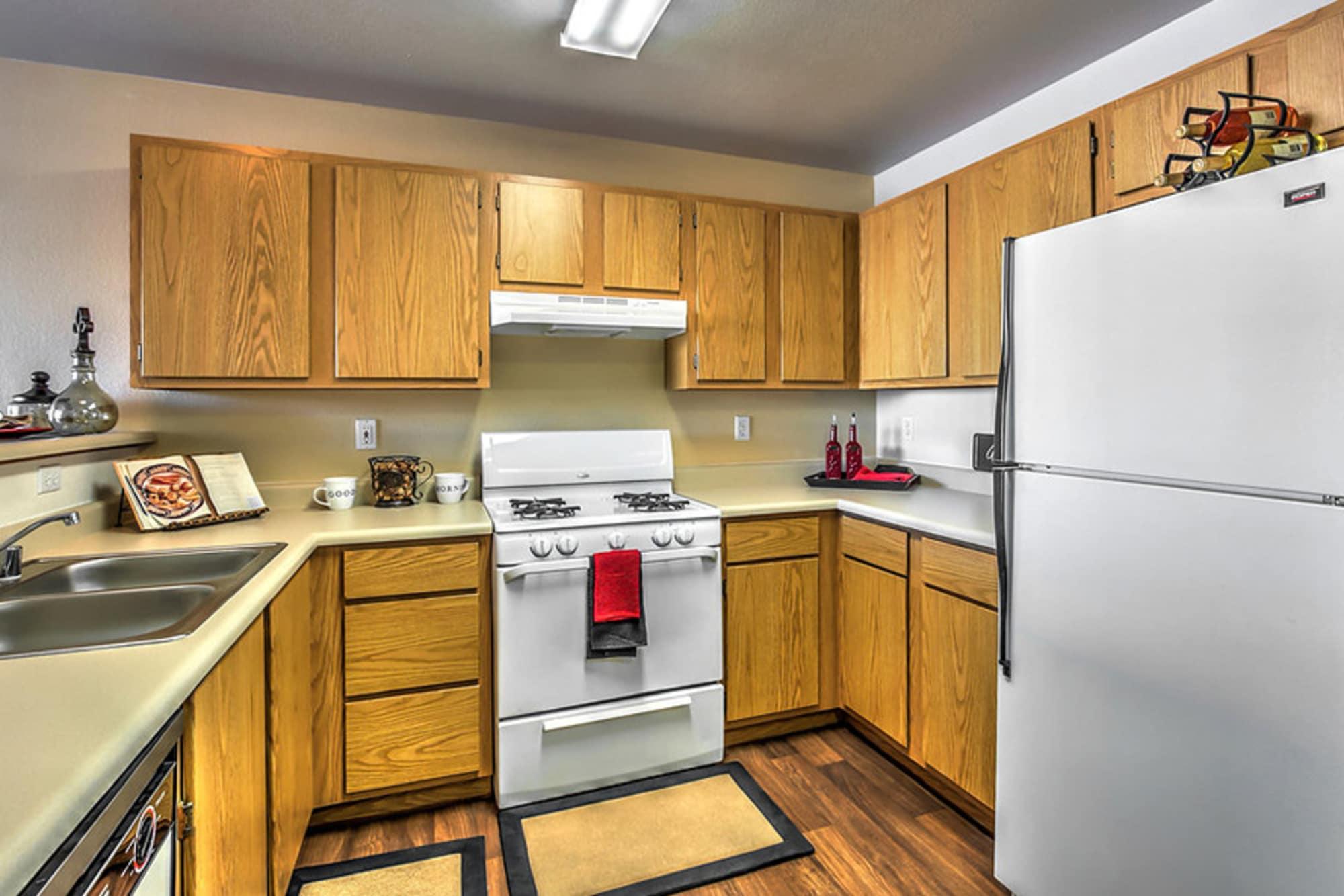 Kitchen in apartment at Portola Del Sol