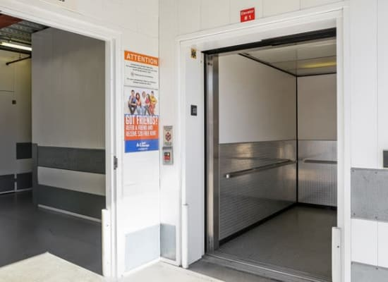 Elevator for easy access at A-1 Self Storage in Glendale, California