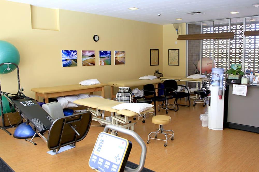 Therapy room at Monte Vista Village in Lemon Grove, California