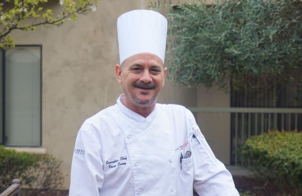 Chef Dan Catanio for the senior living community at Winding Commons Senior Living in Carmichael, California